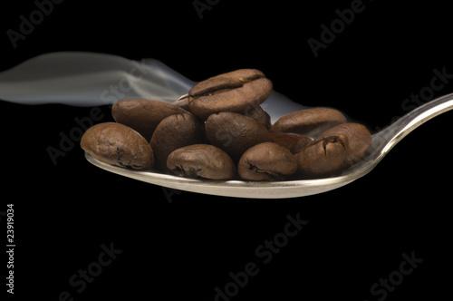 Fotobehang Koffiebonen Chicchi di Caffe Fumanti