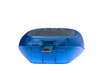 blue glucose meter with blood drop