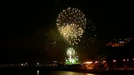 Fireworks show in the Postiguet beach - Alicante