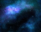 starry deep outer space nebula and galaxy poster