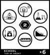 School subject icon 2 -  black & white