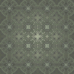 Seamless background with vintage decorative patterns.