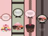 Fototapety cupcake banners
