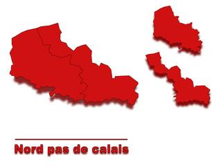 carte nord pas de calais région de france