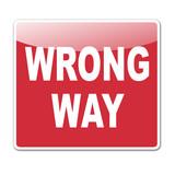 Pegatina WRONG WAY poster