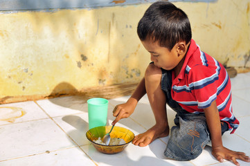 Hungry Poverty Child