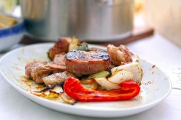 grill fleisch platte