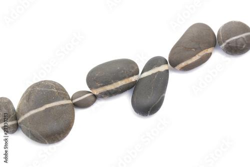 zen weg kieselsteine