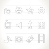 Entertainment  and media Icons - Vector Icon Set poster