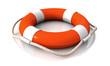 Life belt orange white lying