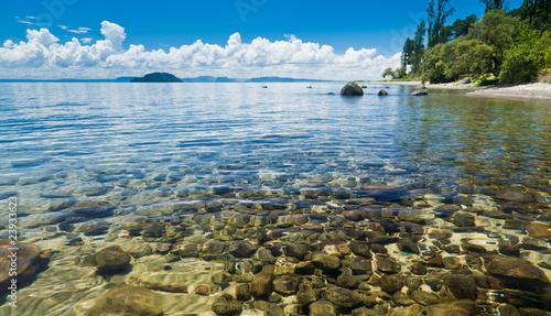 In de dag Nieuw Zeeland Lake Taupo