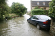 Leinwandbild Motiv Car in flood water