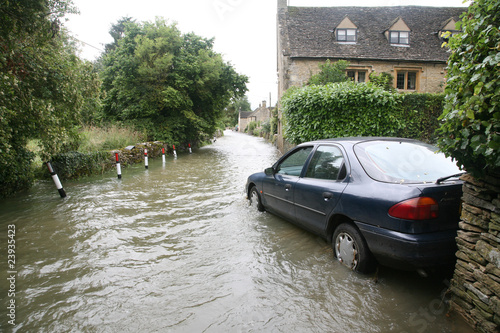 Car in flood water - 23935423