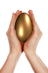 Golden Egg and hands