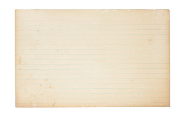 Old, Yellowing Index Card