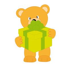 oso con un regalo