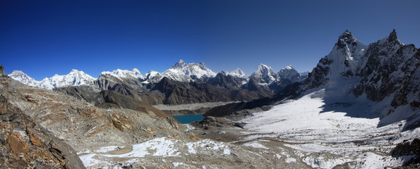 Everest panorama from the Renjo Pass