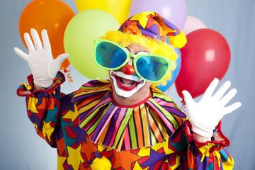 Funny Clown in Big Glasses