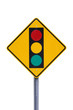 Stoplight Warning Sign