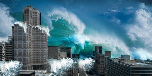 Leinwandbild Motiv tsunami v2