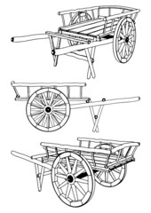 Antique Pushcart Vector 01
