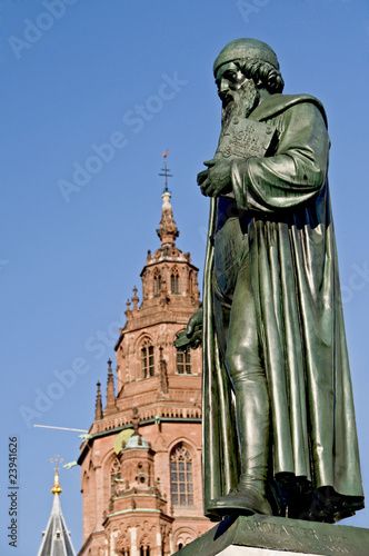 Leinwanddruck Bild Gutenberg-Denkmal