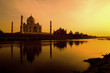 Taj Mahal from the north bank of the Yamuna.