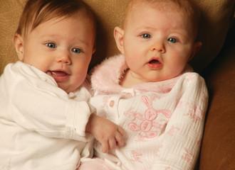 Two Babies Cuddling