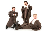 Adorable Kids in Over Sized Suits