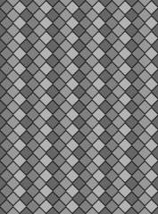 Vector Eps8, Black and White Variegated Diamond Pattern