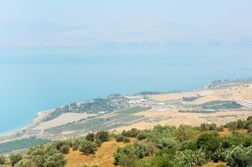 North shore of Lake Kinneret
