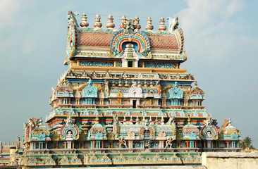 Hindu Sri Srirangam Temple  in Trichy,India,Unesco heritage