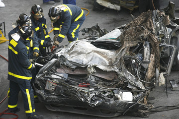 accidente y bomberos