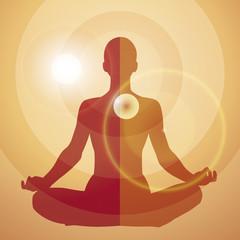 Frau im Lotussitz - geistliche Energie