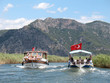 Leinwanddruck Bild - trip on Dalyan river, Turkey