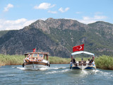 Fototapety trip on Dalyan river, Turkey