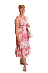 Mature lady in pretty summer dress