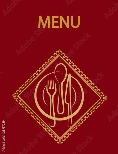 restaurant menu design with red background-2