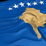 Kosovo flag picture poster