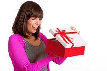 Frau önnet Geschenk