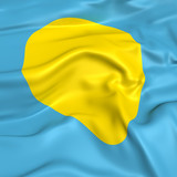 Palau flag picture poster