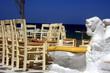 Mykonos, Kykladen, Taverne am Meer