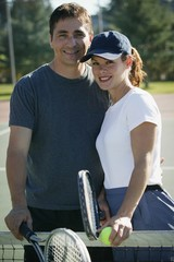 Portrait Of An Athletic Couple