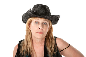 Woman in western wear