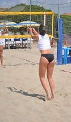 Partita di beach volley