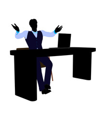 Male Business Silhouette