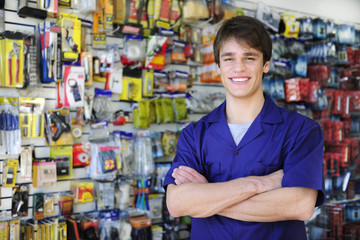 portrait of the owner of a home improvement stores