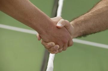 Handshake Before A Tennis Game