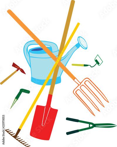 Jardinage et ses outils fichier vectoriel libre de for Heure de jardinage