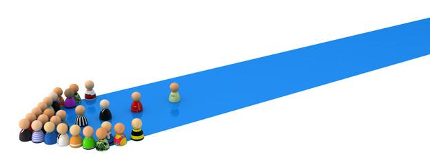 Cartoon Crowd, Blue Streak Arrow